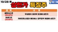 10/28(목) [상한가특징주] 쎄미시스코, 아센디오